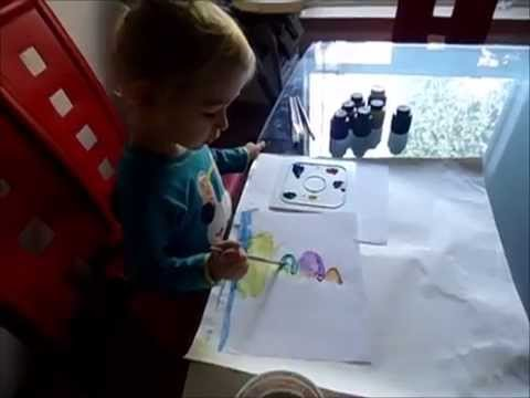 Painting ideas for kids 3 year old jenessa painting a for Painting ideas for 4 year olds