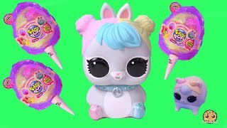 Cotton Candy Pikmi Pops Surprise Blind Bags with LOL Biggie Pets Bunny