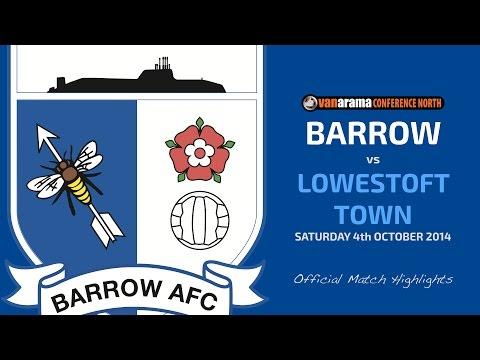 2014/15: BARROW v Lowestoft Town