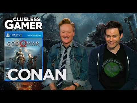 "Clueless Gamer: ""God Of War"" With Bill Hader  - CONAN on TBS thumbnail"