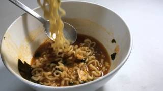Eating ASMR / spicy Korean ramen