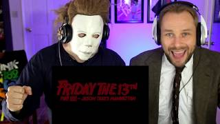 MICHAEL MYERS REACTS TO JASON TAKES MANHATTAN TRAILER W DR LOOMIS