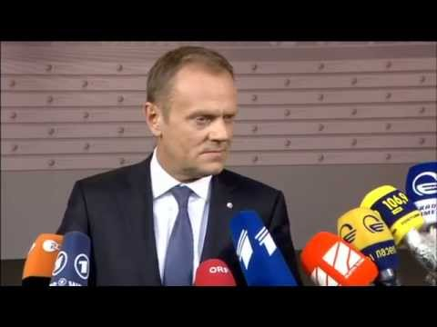 Doorstep by Donald Tusk (President of the European Council)