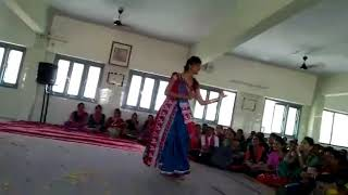 Gujarati natak by school girl solo drama performance