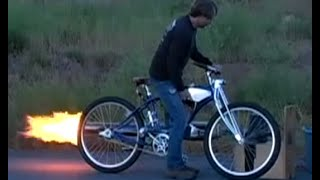 New Rocketman show starting 2017 Pulsejet power! cruiser bike