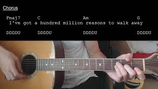 Lady Gaga – Million Reasons EASY Guitar Tutorial With Chords / Lyrics
