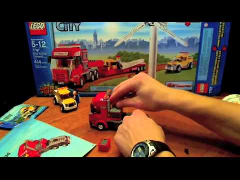 Time Lapse of the LEGO City Wind Turbine Transport (7747)