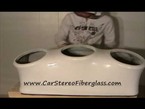 How To Fiberglass Car Stereo 3 Sub Enclosure / Fiberglass Car audio diy Music Videos