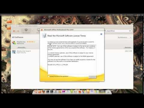 Ubuntu 12.04 LTS How to Install Microsoft Office 2010 Professional Edition