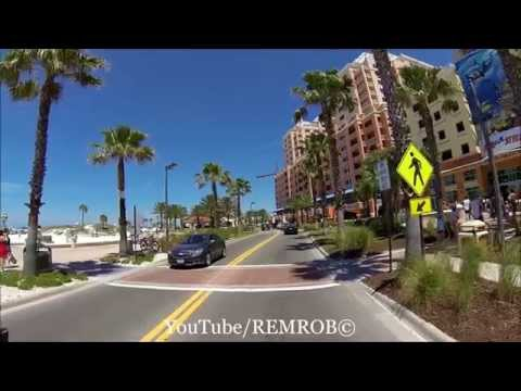 Driving Clearwater Beach, Florida Spring Break