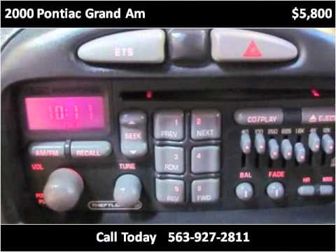2000 Pontiac Grand Am Used Cars Manchester IA