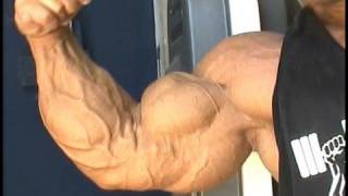 Masters bodybuilder Lance Johnson training