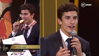 Marc Marquez gives classy speech at MotoGP awards after winning EIGHTH world title!