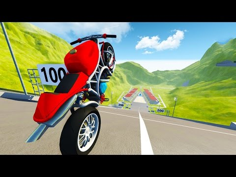 SPORTS BIKE VS ULTIMATE SKI JUMP! - BeamNG Drive