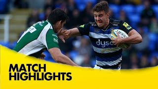 London Irish vs Bath - Aviva Premiership 2015/16 | Rugby Video Highlights