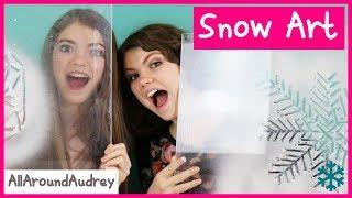 SPRAY SNOW FROST ART CHALLENGE / AllAroundAudrey