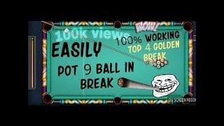9 ball pool break - Top 4 golden 9 ball break 100% working...on version 3.9.1