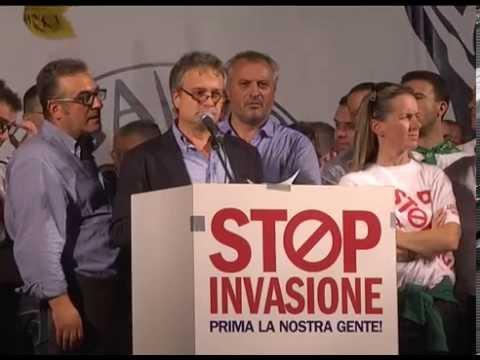 StopInvasione - Milano - Intervento di Gianni Tonelli sindacato SAP