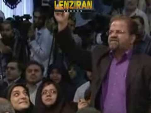 Blind supporter of Ahmadinejad disrupt Hasan Rohani press conference for the second time !