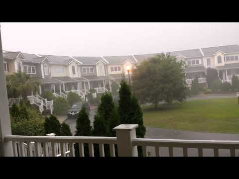 Hurricane Arthur hits Morehead City NC with rain and wind
