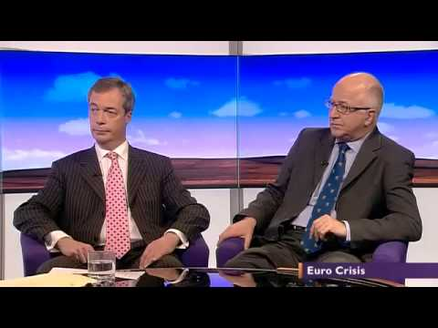 Collapsing Euro, UKIP Nigel Farage vs Labour Denis MacShane   BBC Daily Politics 18May12