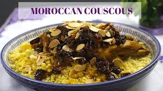 Moroccan Raisins and Chicken Couscous