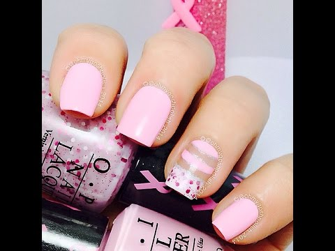 Negative Space Pink Nail Art