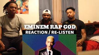 Eminem - Rap God (Explicit) [Official Video] | REACTION/RE-LISTEN | HE FREESTYLES THE WHOLE THING?