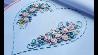 ВЫШИВКА: РОЗЫ РОКОКО \ Hand Embroidery: Bullion Knot Stitch\