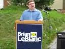 Brian LeBlanc's Campaign Announcment