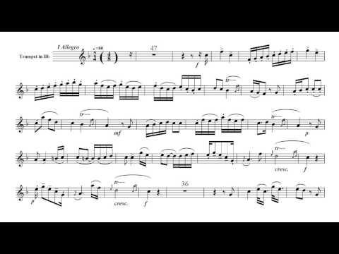 Neruda - Trumpet Concerto In E Flat - I Allegro [Play Along] [B Flat / Si Bemol]