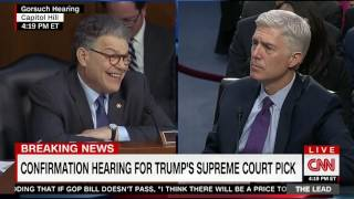 Franken Visibly Frustrated When Gorsuch Doesn