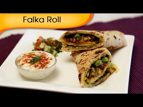 Falka Roll - Indian Vegetable Wrap - Healthy Tiffin Snacks / Brunch Recipe By Annuradha Toshniwal