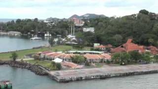 Part 1 - Royal Caribbean Cruise Arriving in St Lucia - Docking - Day 4
