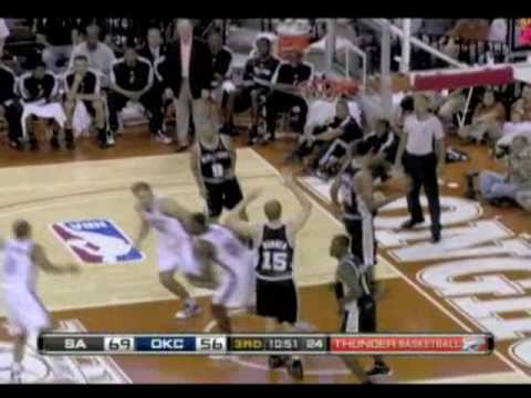 NBA San Antonio Spurs vs Oklahoma City Thunder Preseason HighLights 10/20/2009 Video