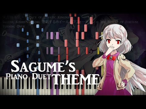 [Synthesia Piano] Touhou 15 - The Wheel of Fortune Turning Over - Piano Duet