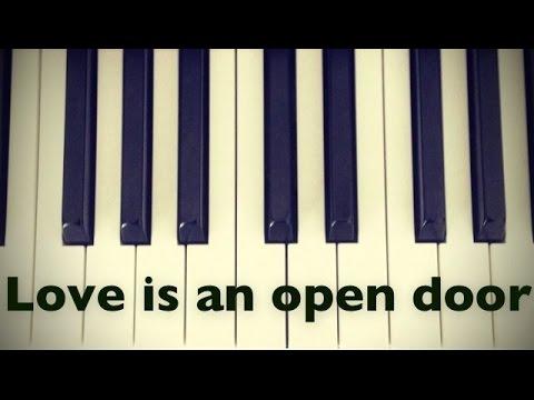 Love is an open door - Frozen - Piano cover