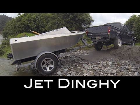 $8.000 home built Jet Dinghy Testing