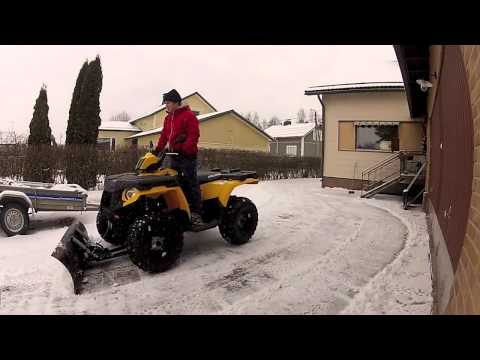 Polaris snow plowing 2013