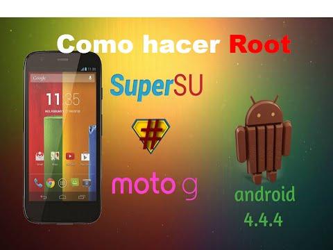 Como hacer root. moto g android 4.4.4 kitkat facil rapido & seguro