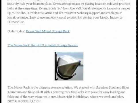 Kayak Storage Rack Ideas And Options For Winter and Interim Storage Needs