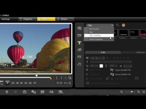 Adding Subtitles - VideoStudio Pro X3