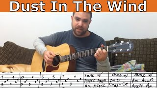 Tutorial: Sungha Jung's Dust in the Wind - Fingerstyle Lesson w/ TAB