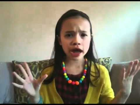 Amazing 8-year old singing her version of  Adele's