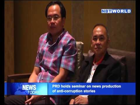 PRD holds seminar on news production of anti corruption stories