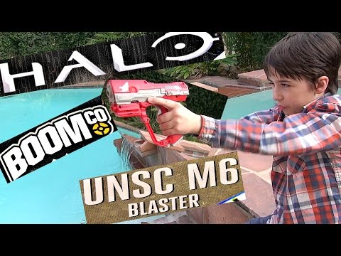 BOOMco HALO UNSC M6 Blaster with Robert-Andre!