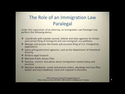 Immigration Law Paralegal