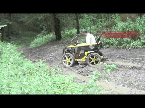 All terrain wheelchair TerrainHopper Overlander 4 vs Mud