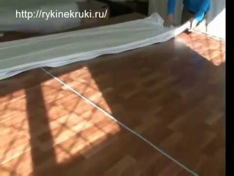Как делают натяжные потолки видео