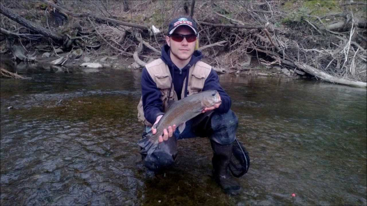 Pa spring trout fishing 2013 3 youtube for Pa out of state fishing license